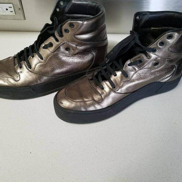 balenciaga leather high top sneakers